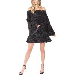 Sugarlips Dot Stuff Of-The-Shoulder Dress