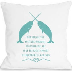 Narwhal Blank White Pillow by