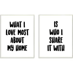 Stupell 2pc Sharing Home Together Typography Set found on Bargain Bro Philippines from Gilt City for $39.99