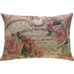 French Roses Linen Pillow