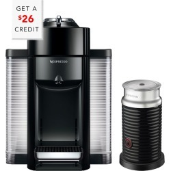 Nespresso Vertuo Coffee & Espresso Single-Serve Machine & Aeroccino Milk Frother