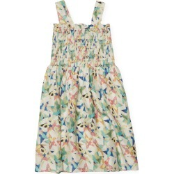Stella McCartney Star Print Smocked Silk Dress found on MODAPINS from Gilt for USD $47.00