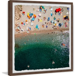 Marmont Hill Packed Beach Framed Painting Print by Karolis Janulis found on Bargain Bro Philippines from Ruelala for $39.99