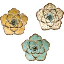 Stratton Home Decor Set Of 3 Flower Combo Wall Decor found on Bargain Bro India from Gilt for $39.99