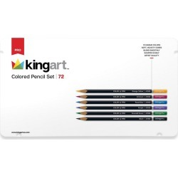 KINGART 72Pc Colored Pencil Set In Tin Case