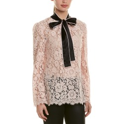 Dolce & Gabbana Silk-Trim Lace Top found on Bargain Bro India from Ruelala for $549.99