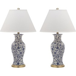 Safavieh Set of 2 16in Beijing Floral Urn Table Lamps found on Bargain Bro India from Ruelala for $209.99