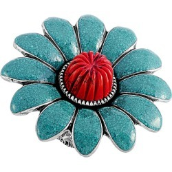 Gucci GG Marmont Silver Turquoise Enamel Flower Ring found on Bargain Bro Philippines from Ruelala for $469.99