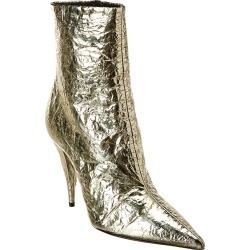 Saint Laurent Kiki 100 Metallic Leather Bootie found on Bargain Bro India from Ruelala for $749.99