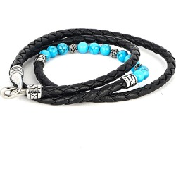 Dell Arte Turquoise Leather Wrap Bracelet found on Bargain Bro Philippines from Gilt for $29.99