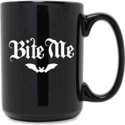 Susquehanna Glass Company Bite Me Grande 15oz Black Mug