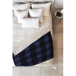 Deny Designs Allyson Johnson Woodsy Blue Plaid Fleece Throw Blanket