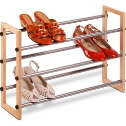 Honey-Can-Do 3-Tier Expandable Shoe Rack