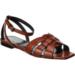 Saint Laurent Tribute Leather Sandal found on Bargain Bro India from Ruelala for $549.99