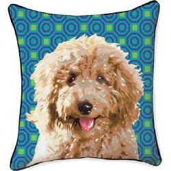 Naked Decor 18in Pooch Decor Labradoodle Pillow found on Bargain Bro India from Gilt for $34.99
