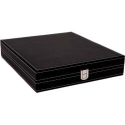 Bey-Berk Bey Berk Black Leatherette 5-in-1 Game Set