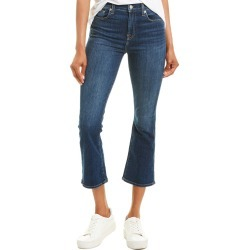 7 For All Mankind High-Waist Midnight Dark Slim Kick Crop found on MODAPINS from Gilt City for USD $49.99