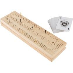 Wooden Cribbage Board Game Set