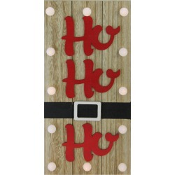 Northlight 15.75in Lighted Brown & Candy Apple Red HO HO HO Santa Belt Wall Decor found on Bargain Bro India from Gilt City for $25.99