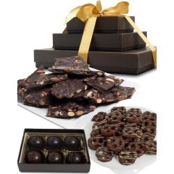 Chocolate Covered Company Sweet-And-Salty Dark Chocolate Tower