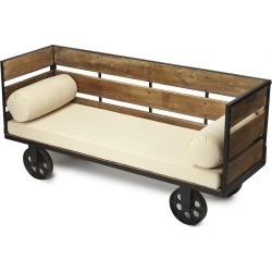 Butler Ridley Wood & Metal Entry Bench
