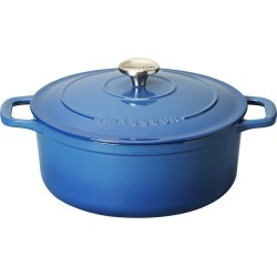 French Home Chasseur 5.25qt Blue French Enameled Cast Iron