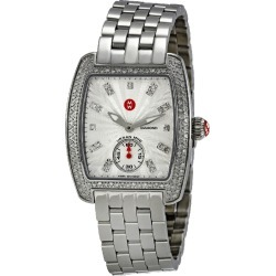 Michele Women's Mini Urban Silver Diamond Watch found on MODAPINS from Gilt City for USD $1449.99