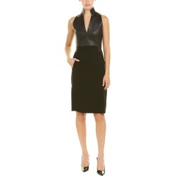 Akris Leather-Trim Wool-Blend Sheath Dress found on Bargain Bro Philippines from Gilt City for $859.99