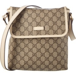 Gucci Brown GG Supreme Canvas & Cream Leather Shoulder Bag found on MODAPINS from Ruelala for USD $550.00