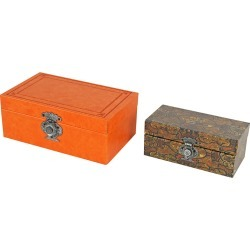 A&B Home Set of 2 Nesting Print Boxes