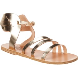 Ancient Greek Sandals Ikaria Wing Metallic Leather Sandal found on MODAPINS from Gilt for USD $109.99