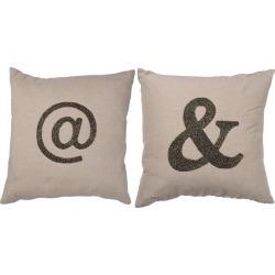 A&B Home Set of 2 Dashiell Type Pillows