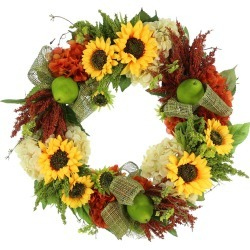 Creative Displays Sunflower Heather & Hydrangea Wreath found on Bargain Bro India from Ruelala for $259.99