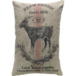 Goat Farm Linen Pillow
