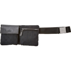 Gucci Black GG Canvas & Leather Waist Pouch found on MODAPINS from Ruelala for USD $600.00