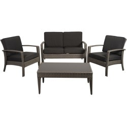 international home miami Atlantic Florida Deluxe 4pc Patio Conversation Set