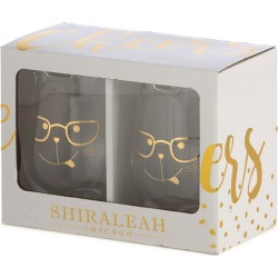 Shirlaeah Set of 2 Kitty Glasses found on Bargain Bro India from Gilt City for $35.99