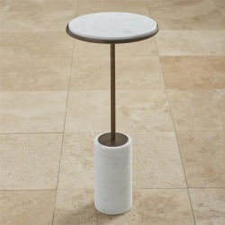 Global Views Short Cored Marble Table found on Bargain Bro India from Gilt for $879.99