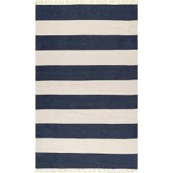 Ashlee Striped Flatweave Cotton Rug