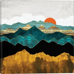 iCanvas Turquoise Vista by SpaceFrog Designs Wall Art found on Bargain Bro Philippines from Gilt City for $99.99