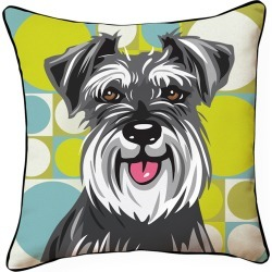 Naked Decor 18in Pooch Decor: Schnauzer Pillow