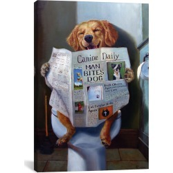 iCanvas Dog Gone Funny by Lucia Heffernan found on Bargain Bro Philippines from Gilt City for $49.99
