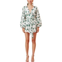 Keepsake Fallen Linen Playsuit found on Bargain Bro from Gilt for USD $68.39