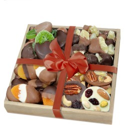 Chocolate Covered Company Premium Dried Fruit & Mendiant Gift Tray