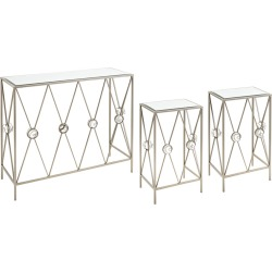 Imax Worldwide Home Set of 3 Ailenne Console & Accent Tables