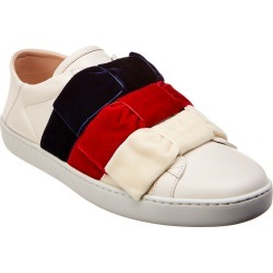 Gucci Ace Velvet Bow & Leather Sneaker found on MODAPINS from Ruelala for USD $575.99