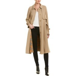 Burberry Gabardine Wool Trench Coat found on Bargain Bro Philippines from Gilt City for $1598.00