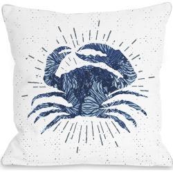 One Bella Casa Crab Bursts Outdoor Pillow
