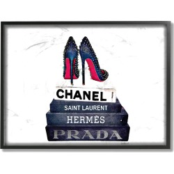 Stupell Glam Fashion Book Set BW Stud Pump Heels Framed Art found on Bargain Bro Philippines from Gilt City for $29.99