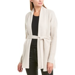 David Lerner Shawl Collar Wool & Cashmere-Blend Cardigan